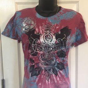 Sinful women's rhinestone shirt .  XL